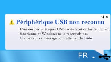 réparer USB non reconnu